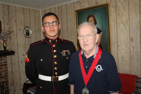 Armando with Samaritan volunteer Lance Corporal Chris Mora
