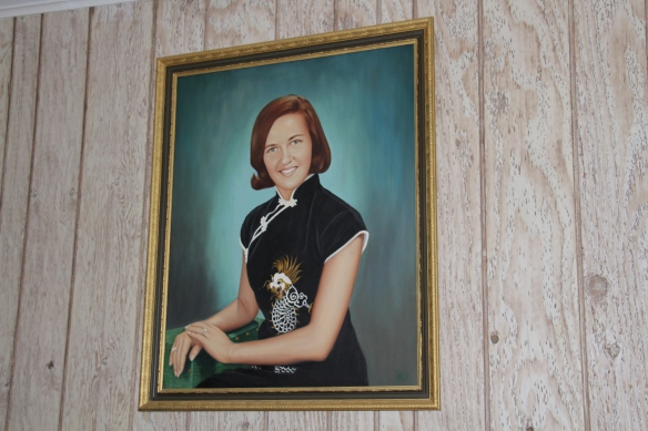 Armando's painting of Rita. A gift for their 11th wedding anniversary.